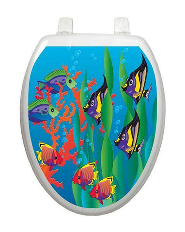Under the Sea Toilet Tattoo - Window Film World