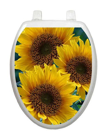 Sunflowers Toilet Tattoo - Window Film World
