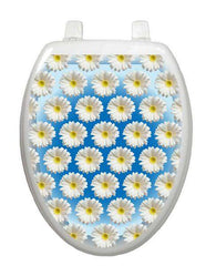 Daisies on Water Toilet Tattoos - Window Film World