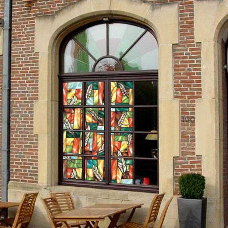 EZ Film Season | Privacy  Stained Glass Window Film (Static Cling) - Window Film World