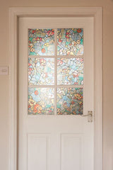 Venetian Garden Stained Glass Window Film | Privacy (Peel And Stick) - Window Film World