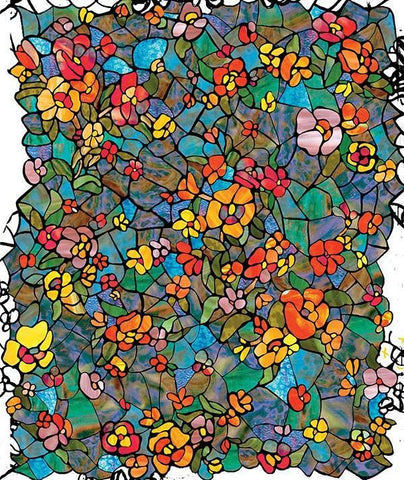 Stained Glass Window Film | Privacy | Decorative | Static Clings