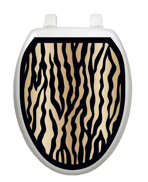 Zebra Pattern Toilet Tattoo - Window Film World