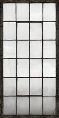 Warehouse Windows Mural Charcoal - Window Film World