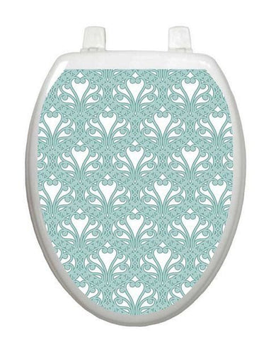 Queen Ann's Lace Aqua Toilet Tattoo - Window Film World