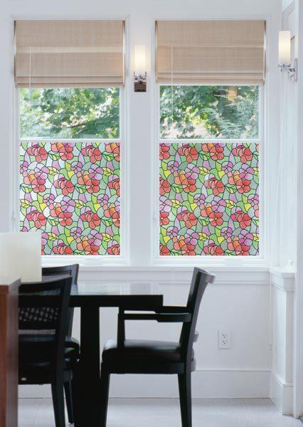 Lisboa Summer Stained Glass | Privacy Static Cling - Window Film World