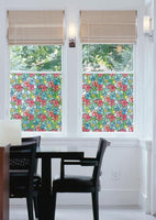 Red And Blue Stained Glass Window Film | Privacy (Peel and Stick) - Window Film World