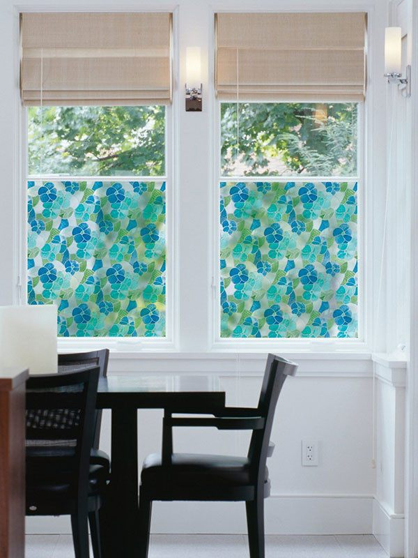 Blue And Green Stained Glass Window Film - Window Film World