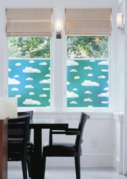 Clouds Decorative Window Film | (Adhesive) - Window Film World