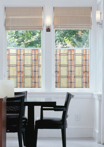 Arts And Crafts Stained Glass Window Film - Window Film World
