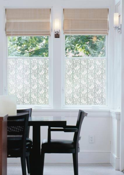 Crochet Floral Decorative Window Film | (Adhesive ) - Window Film World