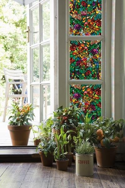 Spring Chapel Stained Glass Window Film Privacy Self
