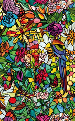 Spring Chapel Stained Glass Window Film | Privacy (Self-Adhesive) - Window Film World