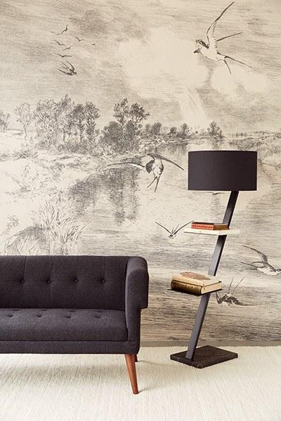 Hirundo Cream Wall Mural - Window Film World