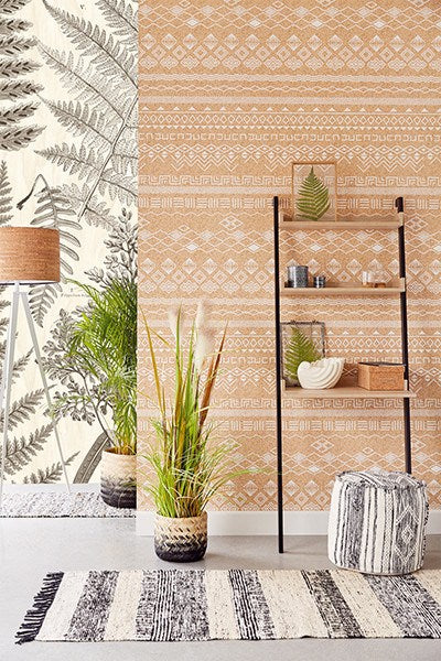 Herbarium Black Wall Mural - Window Film World