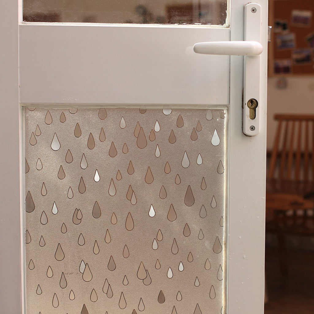 EZ Film Rain Drops | Privacy Film (Static Cling) - Window Film World