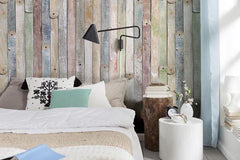 Vintage Wood Wall Mural - Window Film World