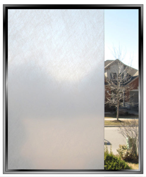 Snow Textured Window Film Privacy Static Cling