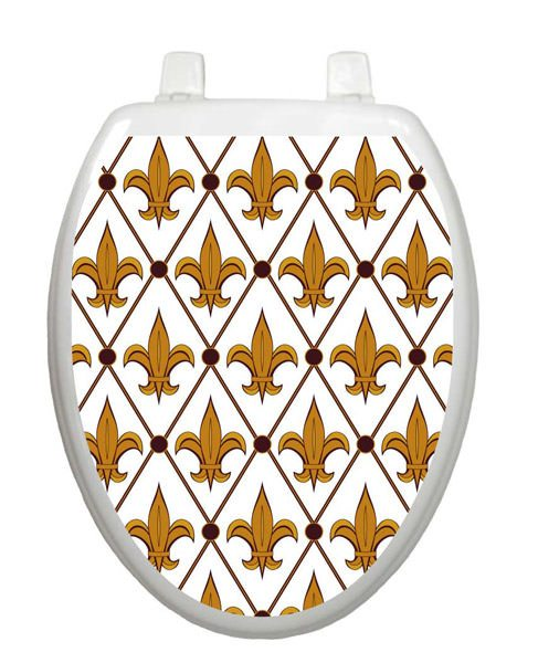 Fleur-De-Lis Toilet Tattoo - Window Film World