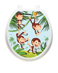 Monkey Business Toilet Tattoos - Window Film World