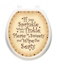 Sweety Seaty Toilet Tattoos - Window Film World