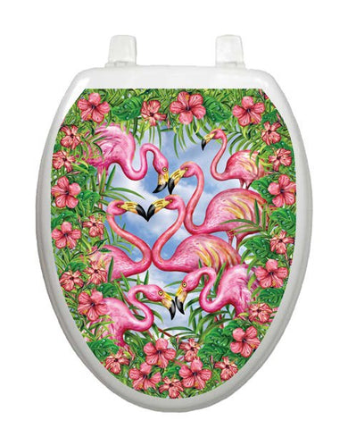 Flamingo's Fancy Toilet Tattoos - Window Film World