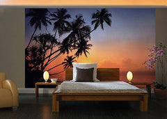 Tropical Sunset Wall Mural - Window Film World