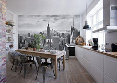NYC Black and White Wall Mural - Window Film World