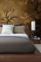 Gold Wall Mural - Window Film World
