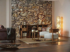 Stone Wall Wall Mural - Window Film World