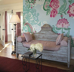Paisley Rose Wall Mural - Window Film World