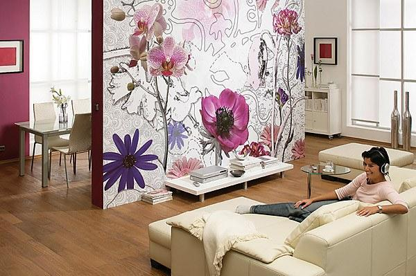 Purple Wall Mural - Window Film World