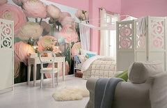 Gentle Rose Wall Mural - Window Film World