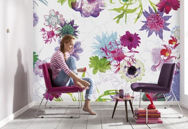 Fleur De Paris Wall Mural - Window Film World