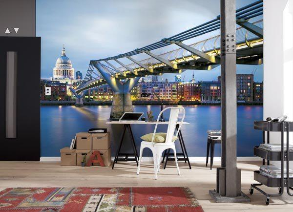 Millennium Bridge Wall Mural - Window Film World