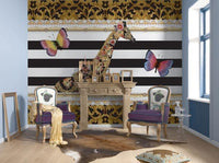 Mellimello Giraffe Wall Mural - Window Film World