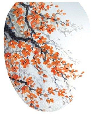 Orange Blossom Toilet Tattoo - Window Film World