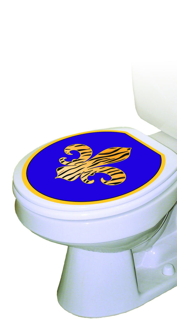 Fleur-De-Lis Tiger Toilet Tattoos - Window Film World