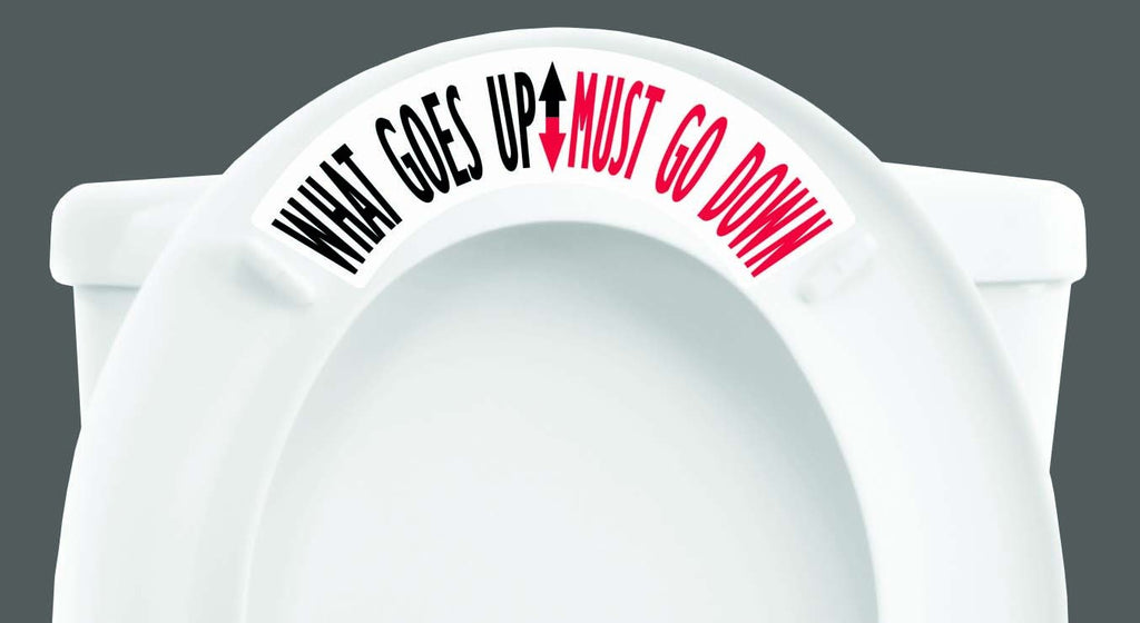What Goes Up Must Go Down Toilet Tweet - Window Film World