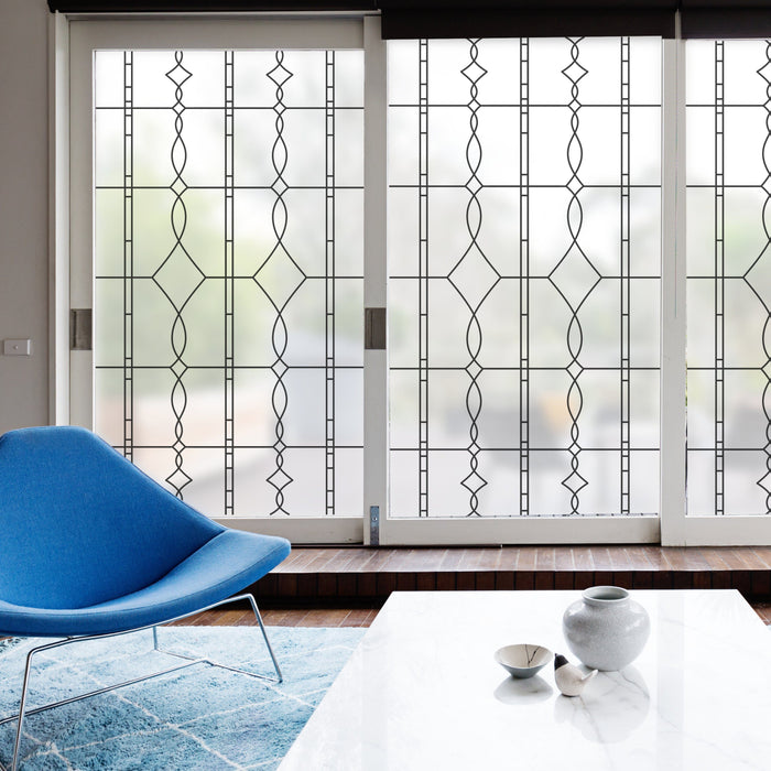 Allure Leaded Glass Sale | Privacy Window Film (Static Cling)