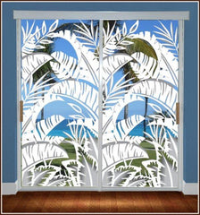 Bahama Breeze | Sliding Glass Door Film (Static Cling) - Window Film World