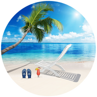 "Beach Design Screen Door Magnets (5.75"" x 5.75"") - Window Film World"
