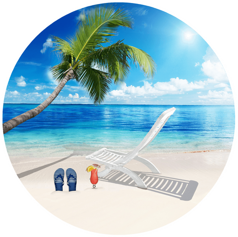 Beach Design Screen Door Magnet (5.75x5.75) - Window Film World