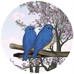 Blue Bird Of Happiness Glass Door Decal - Window Film World