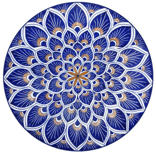Blue Mosaic Glass Door Decal (