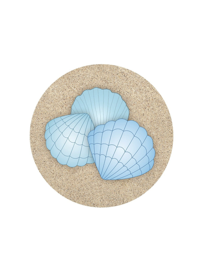 "Blue Shell Glass Door Decal (5.75"" x 5.75"") - Window Film World"