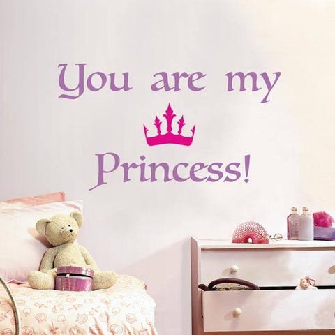 Princess Wall Quote Decals - Window Film World