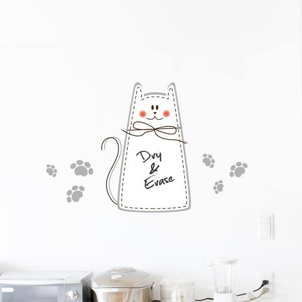 Cat Whiteboard Wall Decal - Window Film World