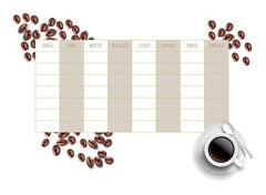 Coffee Weekly Calendar Wall Decal - Window Film World