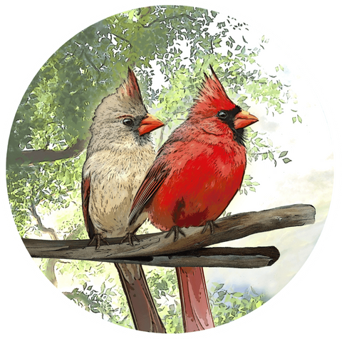 Cardinal Screen Door Magnet (5.75x5.75) - Window Film World